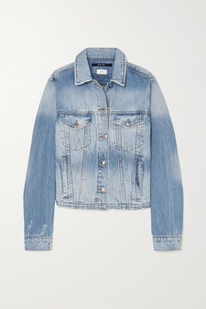 Tour Distressed Denim Jacket - Light denim