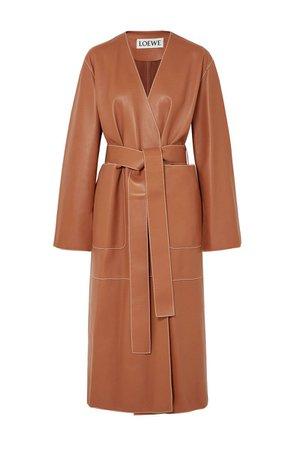 loewe-leather-camel-coat-1536319055.jpg (800×1200)