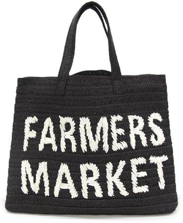 Btb Los Angeles Farmers Market Straw Tote