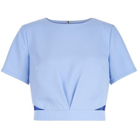 Pastel Blue Crop Top