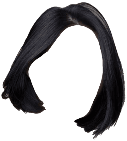 clipart hair black short hair