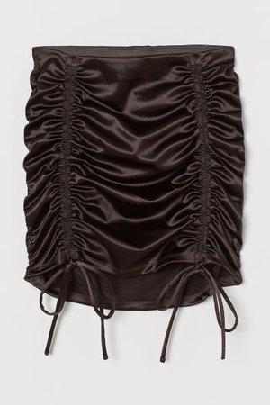 Draped Skirt - Black - Ladies | H&M US