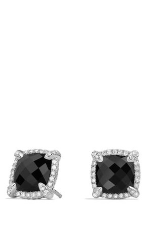 David Yurman Châtelaine Pavé Bezel Stud Earrings with Diamonds | Nordstrom