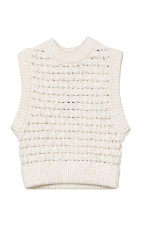 Oversized Cotton-Knit Sweater Vest By Bytimo | Moda Operandi