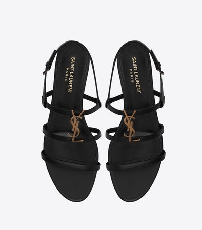 ysl black sandals