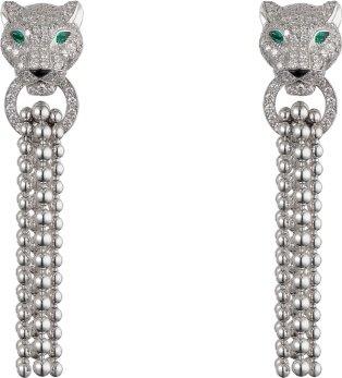 Panthère de Cartier earrings - White gold, emeralds, diamonds, onyx - Cartier
