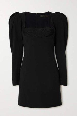 Sateen Mini Dress - Black