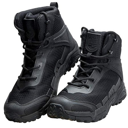 """Amazon.com: FREE SOLDIER Men's Tactical Boots 6"""" inch Lightweight Combat Boots Durable Hiking Boots Military Desert Boots: Gateway"""