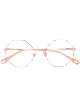 Chloé Eyewear octagonal-frame glasses pink CH0022O - Farfetch