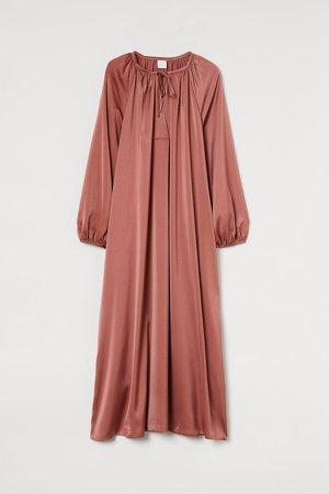 Long-sleeved Dress - Pink