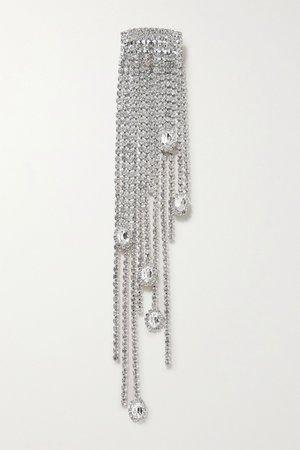 Silver Silver-plated crystal hair clip | AREA | NET-A-PORTER