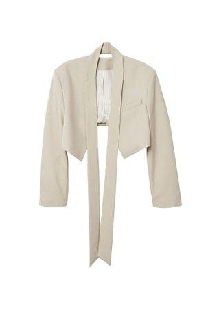 MANGO Tie cropped jacket