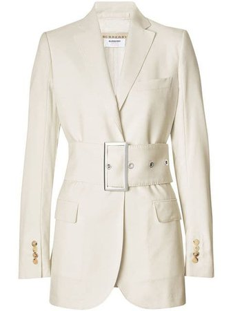 Burberry Wool Belted Blazer £1,350 - Fast Global Shipping, Free Returns