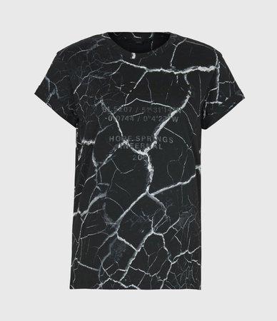 ALLSAINTS US: Womens Anna Hope T-Shirt (black)
