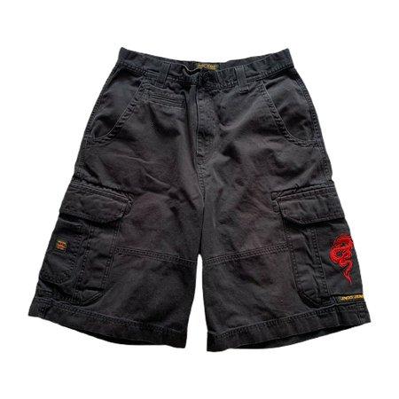 "VTG 90s JNCO Jeans Dragon Baggy Cargo Black Embroidered Denim Shorts Men's 32""   eBay"