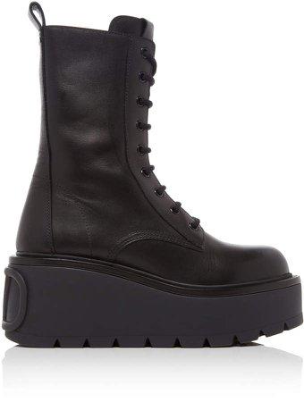 Valentino Platform Combat Boots