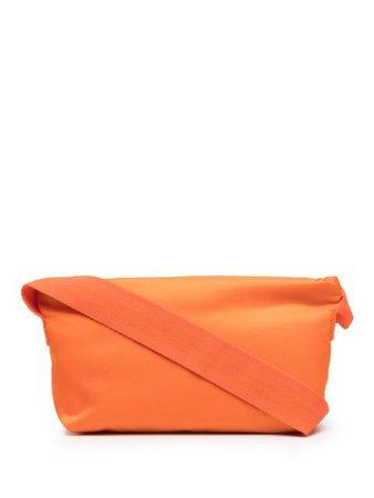 The Attico zip-up crossbody bag orange 212WAH28PA06 - Farfetch