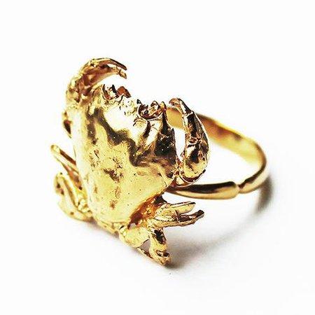 Gold Crab Ring