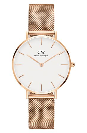 Daniel Wellington Classic Petite Mesh Strap Watch, 32mm | Nordstrom