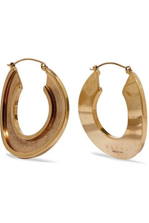 Marni | Monile gold-tone hoop earrings | NET-A-PORTER.COM