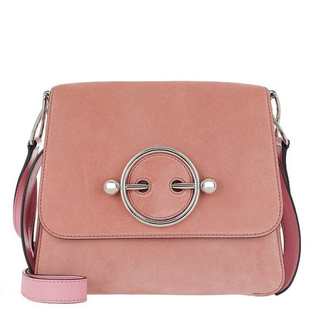 JW Anderson Disc Shoulder Bag Dusty Rose at FORZIERI