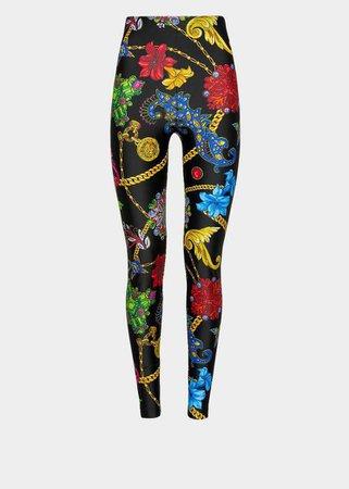 Versace - Gioielleria Jetés print leggings ($795)