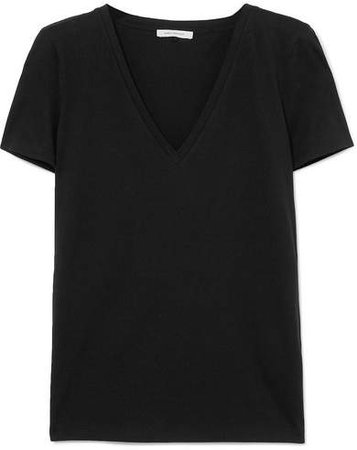 Ninety Percent - Ruby Organic Cotton-jersey T-shirt - Black