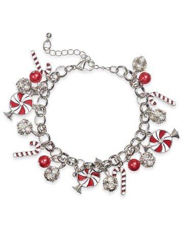Peppermint & Candy Cane Bracelet