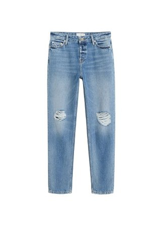 MANGO Ripped Relax jeans