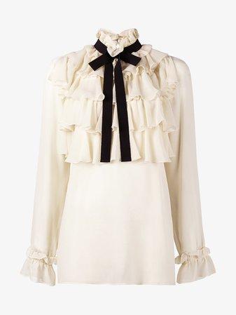 Gucci ruffle blouse