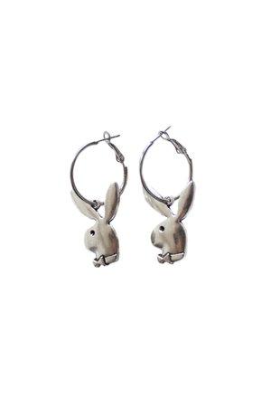 Playboy Bunny Hoop Earrings