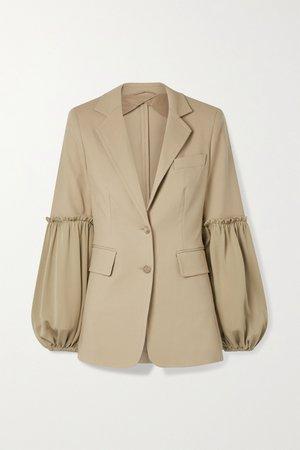 Sand Pasta stretch-cotton and silk crepe de chine blazer | Max Mara | NET-A-PORTER