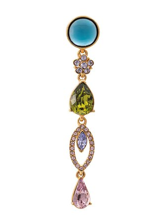 Oscar De La Renta, Crystal Drop Earrings
