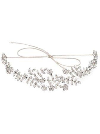 Jennifer Behr Izabella silver-tone Crystal Headband - Farfetch