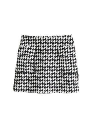 MANGO Houndstooth skirt
