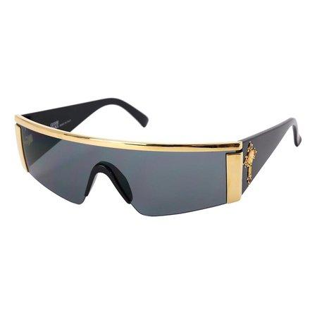 GIANNI VERSACE サングラス ブラック ゴールド ジャンニ ヴェルサーチ 90010763