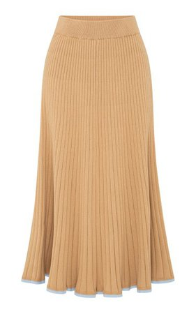 Felicia Contrast Cotton Midi Skirt By Anna Quan | Moda Operandi