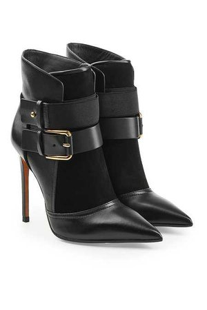Balmain - Leather Ankle Boots