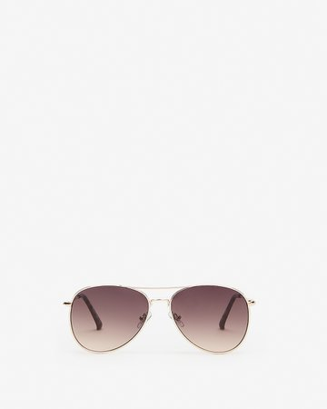 Metal Frame Aviator Sunglasses | Express