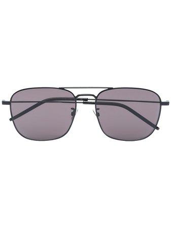 Saint Laurent Eyewear Tinted Aviator Sunglasses - Farfetch