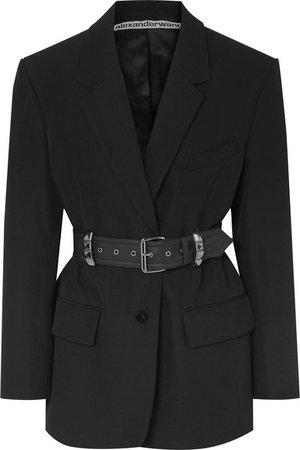 Alexander Wang | Oversized belted studded wool blazer | NET-A-PORTER.COM