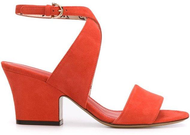 Sheena cross-strap block-heel sandals