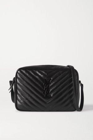 Black Lou quilted leather shoulder bag | SAINT LAURENT | NET-A-PORTER