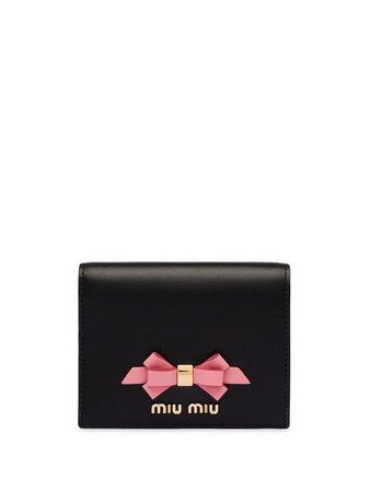 Miu Miu Leather wallet with bow £260 - Buy Online - Mobile Friendly, Fast Delivery