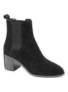 Suede Block Heel Boot | Banana Republic
