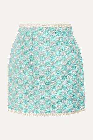 Gucci   Cotton-blend jacquard mini skirt   NET-A-PORTER.COM