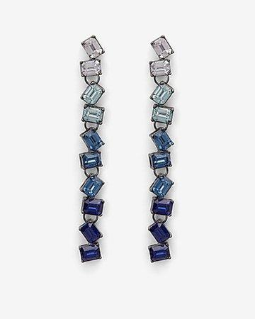 Ombre Linear Stone Drop Earrings | Express