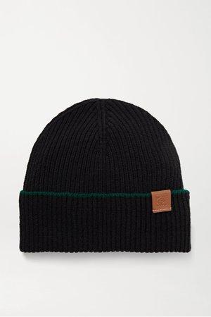 Black Ribbed wool beanie | Loewe | NET-A-PORTER