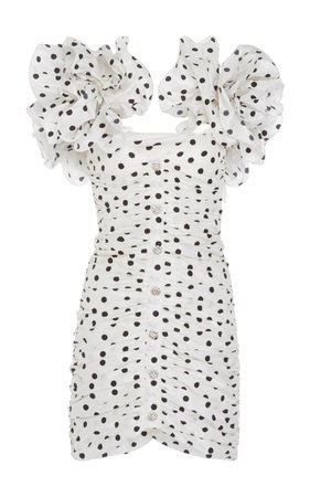 Polka Dot Silk Taffeta Dress by Alessandra Rich | Moda Operandi