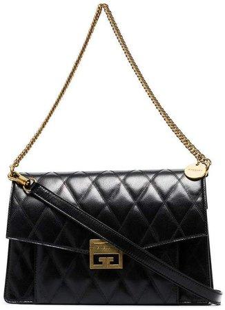 black GV3 quilted leather shoulder bag